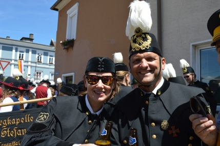Obmann & Frau Kapellmeisterin.